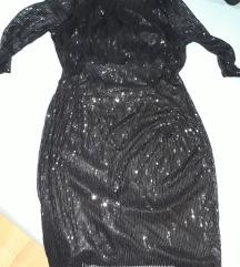 Crna haljina od sljokica