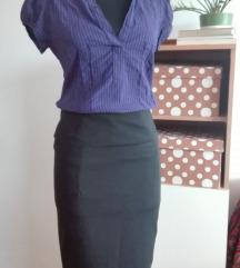 Crna pencil suknja 36