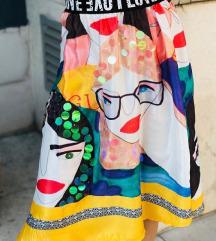 Suknja sa printom