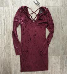 NOVA Plisana haljina sa etiketom, S/M