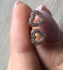 Pandora rosegold otvorena srca
