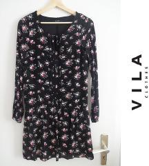 VILA cvetna haljina