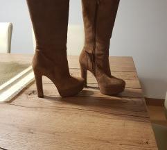 VIA SPIGA cizme od prevrnute koze
