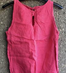 Roze lanena bluza M