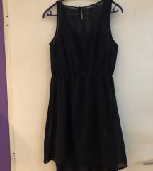 Crna mini leprsava haljina
