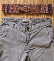 ZARA biznis pantalone i sareni kajs