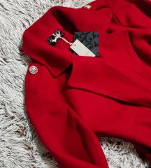 Crveni Jesenji kaput,dugacak