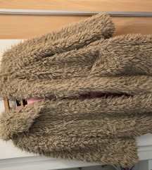 Zara teddy kaput sa kapuljacom