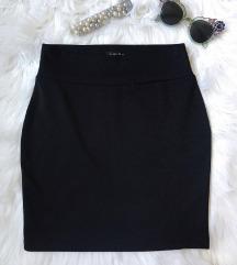 Amisu crna pamucna duboka suknja NOVA