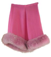 Roze suknja sa vestackim krznom