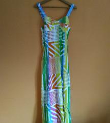 NOVO sarena korset haljina M