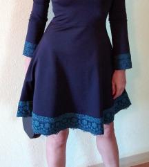 Crna haljina sa detaljima od cipke