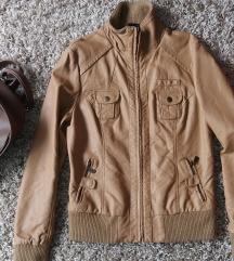 TAKKO FASHION- Oker kozna jaknica M