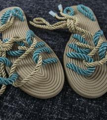 Rope boho dvobojne sandale, vel. 37