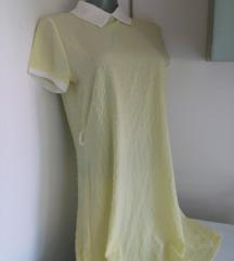 Nova zuta haljina sa belom kragnom S/M