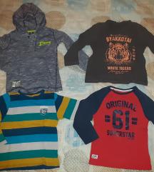 Paket za decaka 104-110 majice, duksevi,farmerke