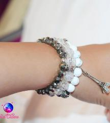 Komplet narukvica - haulit i staklene perle