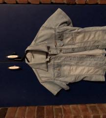 Svetlo teksas košuljica na kratke rukave
