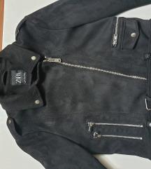 ZARA zenska jaknica od prevrnute koze