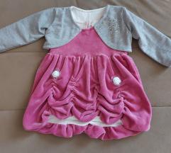 *NOVO* haljina za bebe sa blejzerom 74 + POKLON