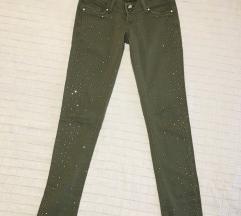 Nove maslinaste pantalone sa cirkonima