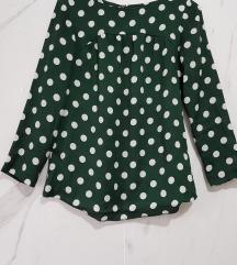 ⓈⒶⓁⒺ ZARA zelena bluza na tufne