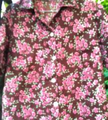 Cvetna bluza na kopcanje vel. XL