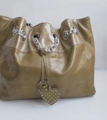 ROBERTA GANDOLFI luksuzna kožna torba boje zlat