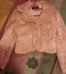 Roze bunda - veštacko krzno s-m