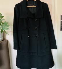 Zara crni kaput WOOL M/L