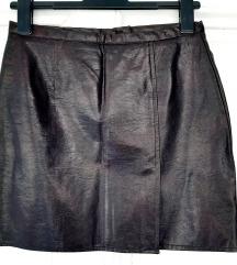 Mini suknja,od veštačke kože,OASIS