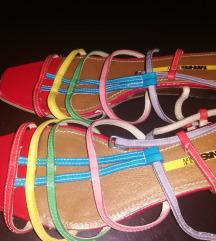 SNIZENO Prelepe KOZNE Italy sandale