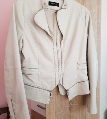 Krem kozna jakna