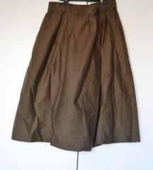 Oviesse maslinasta midi suknja