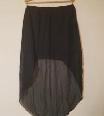Crna asimetricna suknja...