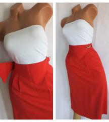 C&A retro suknja boje trešnje, struk