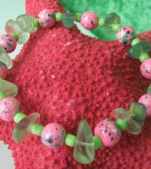 Zeleno roza narukvica