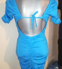 Plava haljinica sa golim leđima