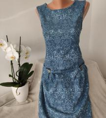 Reljefna plava haljina vel 42