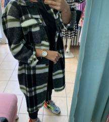 Karirana jaknica/kaput NOVO SA ETIKETOM snizeno