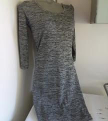 Terranova sivo prskana haljina M