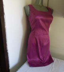 Ciklama satenska haljina S