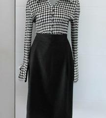 ZARA dubokog struka ravna poslovna suknja M/L