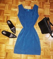 Plava uska haljina