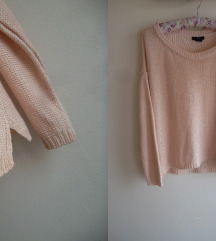 H&M oversized koncani džemper M
