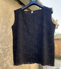 Crna majica (bluza), cipka