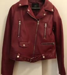 Zara bordo biker jakna