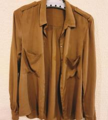 Bershka oker / braon košulja