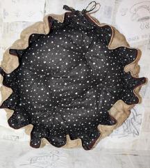 Lezaljka krevet za pse zvezdice braon L NOVO