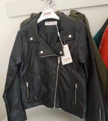Minoti crna kozna jakna